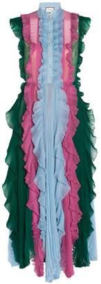 Gucci Sleeveless Frill Dress