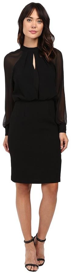 Adrianna PapellAdrianna Papell - Slit Blouson Dress w/ Bishop Sleeve Women's Dress