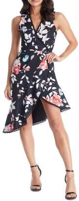 Dress the Population Bijou Floral Plunge Dress