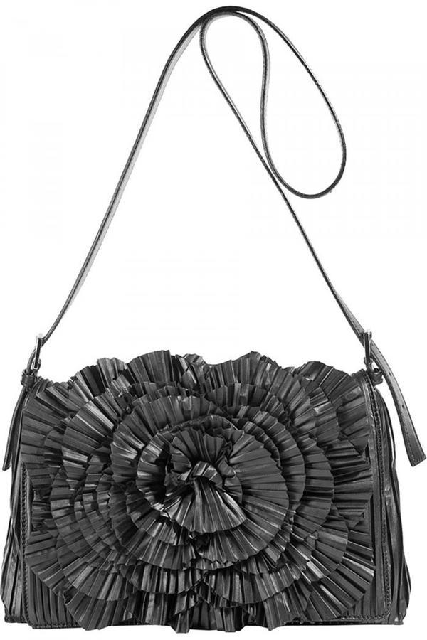 Valentino Black Appliqué Bag