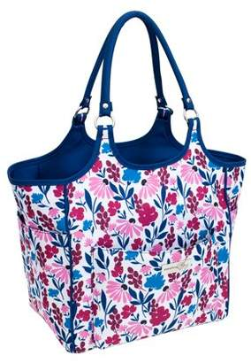 EVERYTHING MARY LLC Everything Mary Blue & Pink Floral Yarn Carry Tote