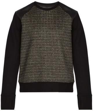Neil Barrett - Panelled Virgin Wool Sweatshirt - Mens - Grey