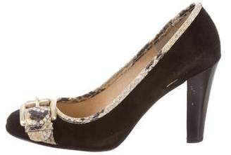 MICHAEL Michael Kors Round-Toe Buckle-Accented Pump