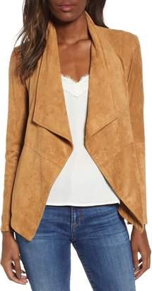 BB Dakota Nicholson Faux Suede Drape Front Jacket