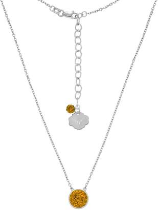 Texas Longhorns Sterling Silver Crystal Disc Necklace