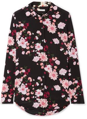 Equipment Essential Floral-print Washed-silk Shirt