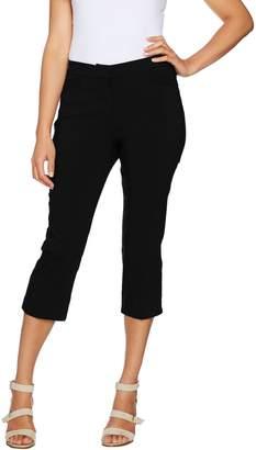 Susan Graver Ultra Stretch Zip Front Capri Pants