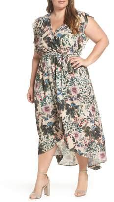City Chic Wild & Free Faux Wrap Maxi Dress