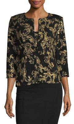 Alex Evenings Two-Piece Brocade Jacket and Tank Top