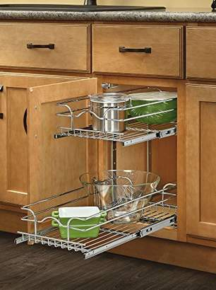 Rev-A-Shelf 5WB2-0918-CR Base Cabinet Pullout 2 Tier Wire Basket Reduced Depth Sink & Base Accessories