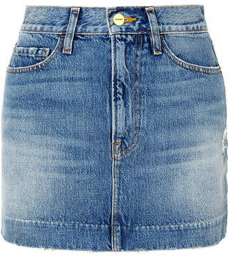 Frame Le Mini Denim Skirt - Mid denim