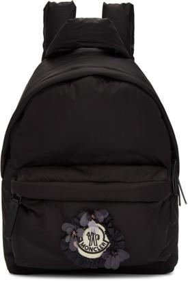 Simone Rocha Moncler Genius 4 Moncler Black Ruffle Logo Backpack