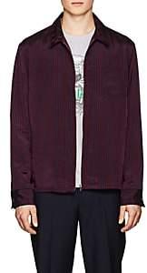 Kenzo Men's Bengal-Striped Twill Shirt Jacket-Navy