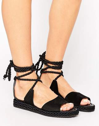 Whistles Rope Wrapped Platform Sandal