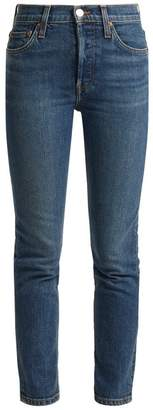 Re/Done Originals Re/done Originals - High Rise Slim Leg Cropped Jeans - Womens - Denim