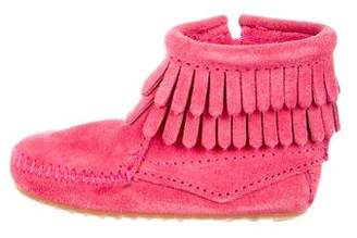 Minnetonka Girls' Suede Fringed Boots
