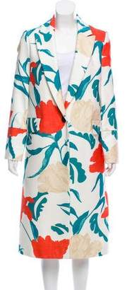 Thakoon Floral Print Long Coat
