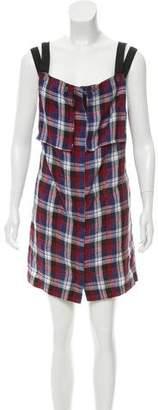 Rachel Comey Plaid Sleeveless Dress