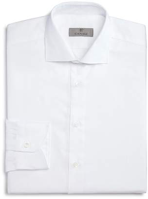 Canali Solid Regular Fit Dress Shirt