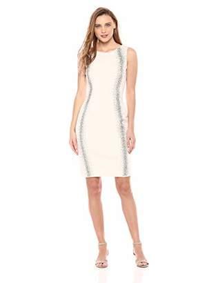 Calvin Klein Women's Sleeveless Sheath Dress with Heat Fix Starburst