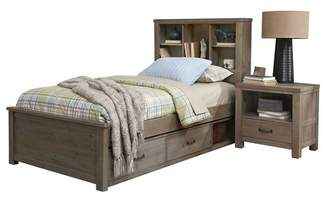 Hillsdale Furniture Highlands Full Bookcase Bed with Storage Driftwood