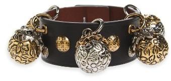 Alexander McQueenWomen's Alexander Mcqueen Metallic Sphere Leather Bracelet