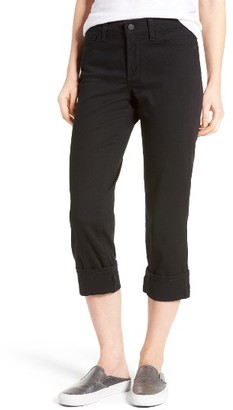 Petite Women's Nydj Dayla Colored Wide Cuff Capri Jeans $98 thestylecure.com