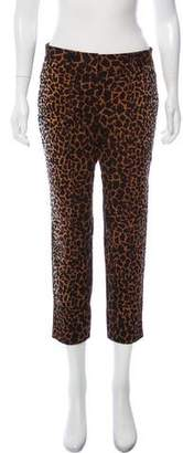 Derek Lam Mid-Rise Animal Print Jeans