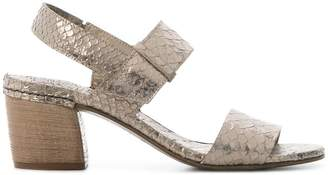 Del Carlo lizard skin effect sandals