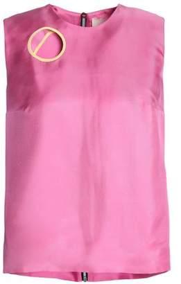 Roksanda Cutout Silk-twill Top