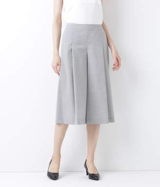 NEWYORKER women's 【手洗い可能】サマーウール タックワイドスカーチョ