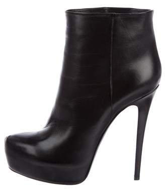 Ballin Classic Leather Platform Ankle Boots
