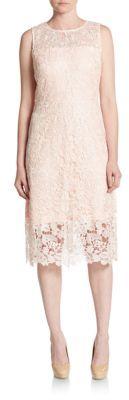 Floral Lace A-Line Dress $208 thestylecure.com