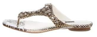 Rafe Snakeskin Thong Sandals