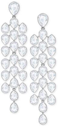 Swarovski Silver-Tone Crystal Chandelier Earrings