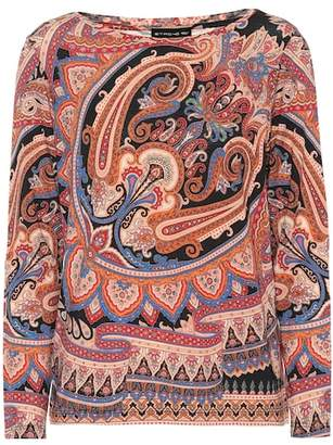 Etro Paisley-printed wool-blend top
