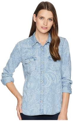 Lucky Brand Paisley Western Shirt Women's Clothing