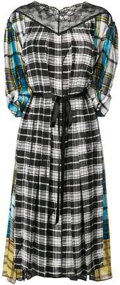 Marc Jacobs contrast panel check dress