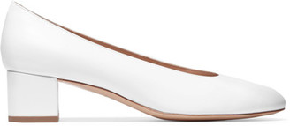 Mansur Gavriel - Ballerina Leather Pumps - White $475 thestylecure.com