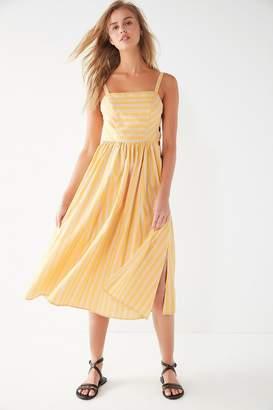 Urban Outfitters Kaye Square-Neck Button-Down Midi Dress