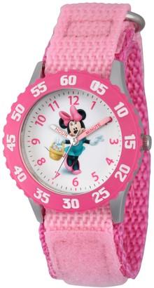 Disney Minnie Mouse Girl's Pink Nylon Watch