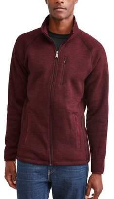 Swiss+Tech Men's High Pile Fleece Zip Up Jacket
