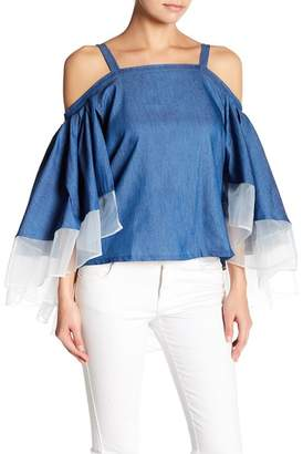 Gracia Off-the-Shoulder Tie Shirt