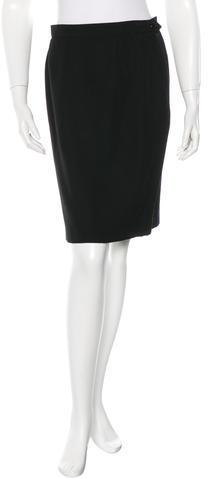 Saint LaurentYves Saint Laurent A-Line Knee-Length Skirt