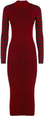 McQ Striped Rib Knit Dress