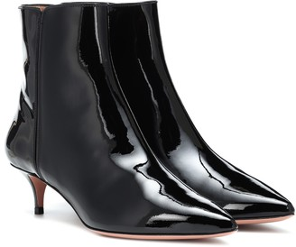 Aquazzura Quant 45 patent leather ankle boots