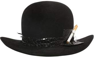 Möve Fur Felt Bowler Hat W/ Cigarette Holder