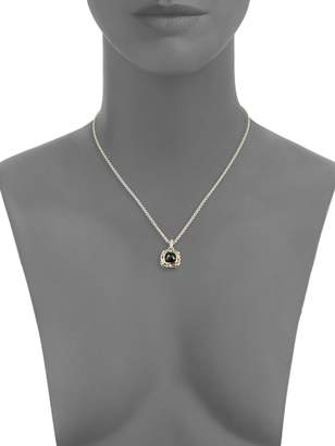 Charles Krypell 14K Two-Tone Gold, Sterling Silver & Diamond Pendant Necklace
