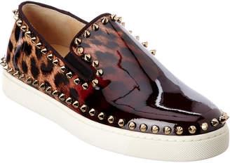 Christian Louboutin Pik Boat Patent Slip-On Sneaker