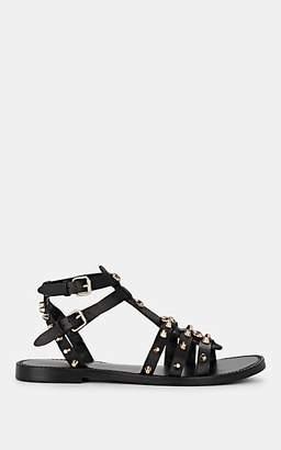 FiveSeventyFive Women's Studded Leather Multi-Strap Sandals - Black